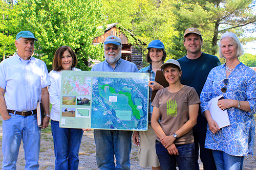 Community farm advocates from Littleton, MA visit with Lilly Lombard, Executive Director of GFN